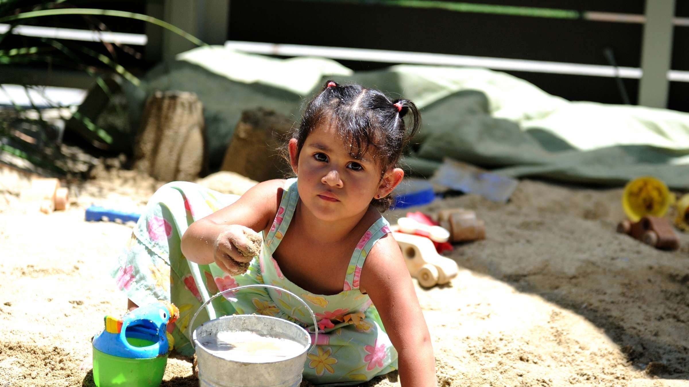ELC sandbox girl